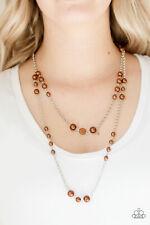 Paparazzi Pearl Promenade BROWN necklace set