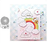 Stanzschablone Regenbogen Wolken Weihnachten Hochzeit Oster Geburstag Karte Deko