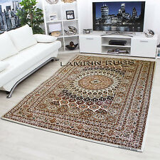 Thick Quality Persian Style Traditional Almas Rugs Cream 2533 Free uk Shipping