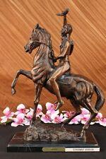 SCALP Frederic Remington Bronze Statue Native Indian Western Art Sculpture Decor