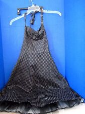MARIPOSA~Black Polka Dot TULLE / CRINOLINE Halter Top DRESS~Women / Juniors 9/10