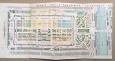 Plan Général Exposition Universelle Paris 1878 Trocadéro Monuments Pavillons