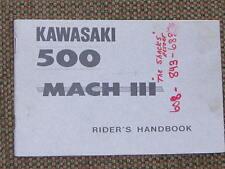 KAWASAKI 500 MACH 3 1969/1970 RIDER'S HANDBOOK