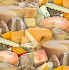 "Elizabeth's Studio Food Festival Cheese 388 100% cotton Fabric Remnant 33"""