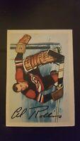 1953-1954 Parkhurst Hockey Card Elwin Rollins # 82 Chicago Black Hawks VG