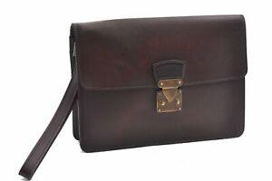 Authentic Louis Vuitton Taiga Kourad Clutch Bag Bordeaux M30196 LV D1699