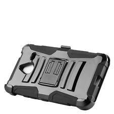 Nokia Lumia 640 XL Case MILITARY Rugged Armor With Belt Clip Holster
