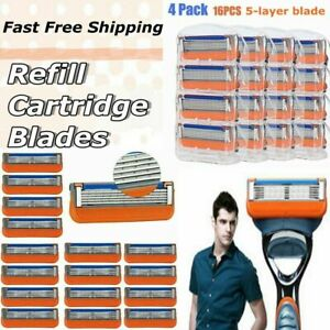 16Pcs for Fusion 5-Layer Men Razor Blade Refills Replacement Fast Ship