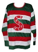 Any Name Number Size Seattle Metropolitans Retro Custom Hockey Jersey New