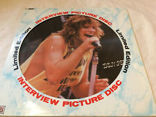 "Bon Jovi ""Interview Picture Disc"" vinyl Limited Edition Picture Disc LP UK EX/EX"
