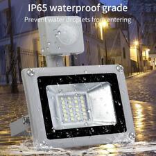 110V Motion Sensor LED Floodlight Security Flood Light Cool White 2835 IP65