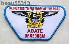"""ABATE of GEORGIA """"DEDICATED TO FREEDOM OF THE ROAD"""" VEST JACKET PATCH"""