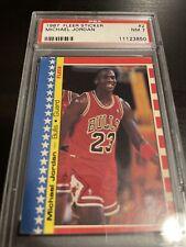 1987 Fleer Sticker Basketball #2 Michael Jordan Chicago Bulls HOF PSA 7 NM Crisp
