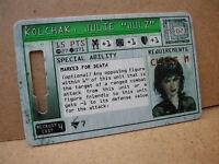 CHARACTER CARD KOLCHAK JULIE JULZ  GS 023 MECHWARRIOR