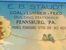 VINTAGE 1948 E.B. STAUDT COAL-LUMBER-FEED PENNSBURG PA CALENDAR