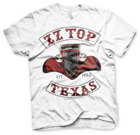 Officially Licensed ZZ-Top - Texas 1962 Men's T-Shirt S-XXL Sizes (White)