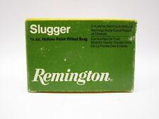 VIntage Remington Slugger Shotgun Shell Box 16 Ga 2 3/4'' Rifled Slug