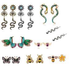 Women's Butterfly/Snake/Birds Charm Earrings Punk Ear Clip Eardrop Stud Jewelry