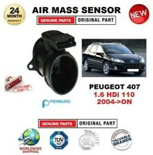 FOR PEUGEOT 407 1.6 HDi 110 2004-ON AIR MASS SENSOR PIERBURG 5-PIN with HOUSING
