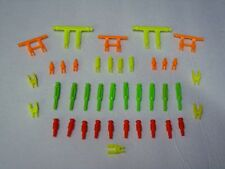 replacement parts lot of 12 green K/'Nex 4 position connectors comb shipping
