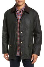 Barbour Men's Lightweight Ashby Waxed Cotton Jacket Coat Sage Green Sz 2XL NWT