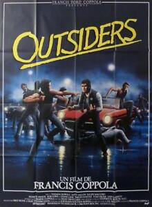 OUTSIDERS - COPPOLA / CRUISE / SWAYZE / CAR - ORIGINAL LARGE MOVIE POSTER