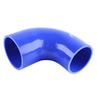"Silicone 90 degree Elbow Hose Pipe 2.25""-2.5"" (57mm-63mm) turbo intercooler Blue"