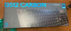 Logitech G512 Carbon RGB Mechanical Gaming Keyboard, GX Brown Switches