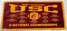 USC Trojans Football NCAA National Championship Banner