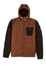 Billabong Jack Wool Brown Hoodie Jacket Sz Large