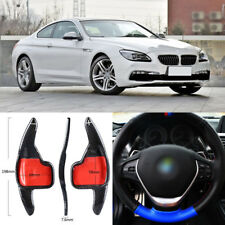 Carbon Fiber Gear DSG Steering Wheel Paddle Shifter Cover For BMW 6 Series 14-17