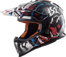 Casco Cross Enduro Motard Motocross Ls2 Mx437 Fast Beast Taglia 3xl Black White