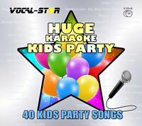 VOCAL-STAR HUGE KARAOKE HITS OF KIDS - 40 SONGS - 2 CDG DISC SET