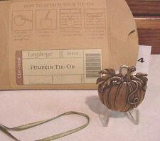 Longaberger 1995 Pumpkin Basket Terra Cotta Tie-On