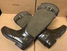 Stunningly Beautiful Hunter Regent Apsley Herringbone Tweed Rubber Rain Boots 9