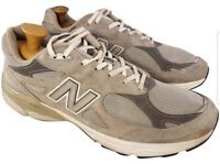 NEW BALANCE MAN SHOES SNEAKERS GRAY SUEDE OPTIMAL CONTROL 990  13 D MADE IN USA