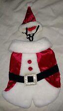 Dog Santa Claus Suit with hat Xs