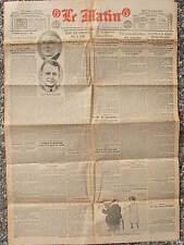 LE MATIN (20/7/1920) Débat sur la Syrie - Rentrée de la moisson