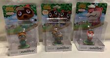 NIB Nintendo Animal Crossing Amiibo Lot of 3 Timmy & Tommy, Tom Nook, Lottie