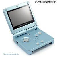 GameBoy Advance - Konsole GBA SP AGS-101 #Arctic Blue / blau + Stromkabel