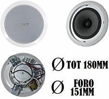 Cassa acustica da incasso.Diffusore audio soffitto parete 180 mm. Altoparlante