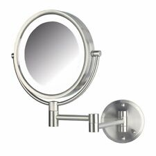 Jerdon Hl88Nld 8.5-Inch Led Lighted Direct Wire Direct Wire Makeup Mirror With 8