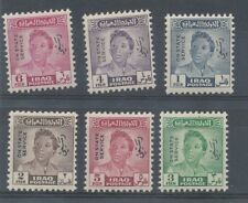 STOCK CARD OF 6 IRAQ STAMPS