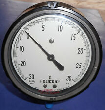 HELICOID 410R-4-1/2-PH-BT-W-30/30 (New, Old Stock) Range- 0-30 in. Hg, 0-30 PSI