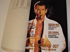 SMOKE MAGAZINE -  PREMIER EDITION - 1995 -  PIERCE BROSNAN ON COVER *PRISTINE*