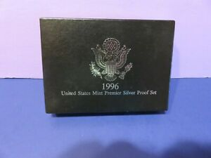 1996 SILVER PREMIER PROOF SET W/BOX, COA~1124
