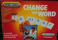 Spears Games Change the Word Letter Game Vintage 1983