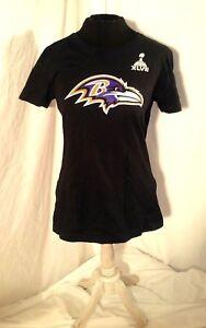 NIKE Super Bowl 47 XLVII Ravens 27 RICE womens slimfit shirt sz L