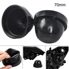 2pcs 70mm Rubber Housing Seal Cap Dust Cover For LED HID Headlight Kit Retrofit