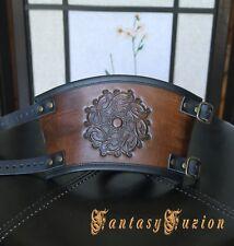 Victorian Renaissance Fashion Stamps Design Leather Cuff Bracer